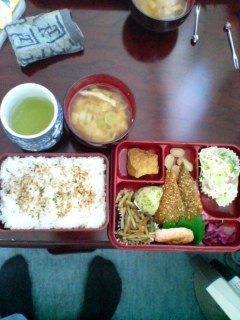 今日のお昼のお弁当
