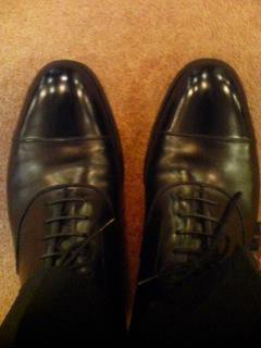 帝国ホテルで靴磨き